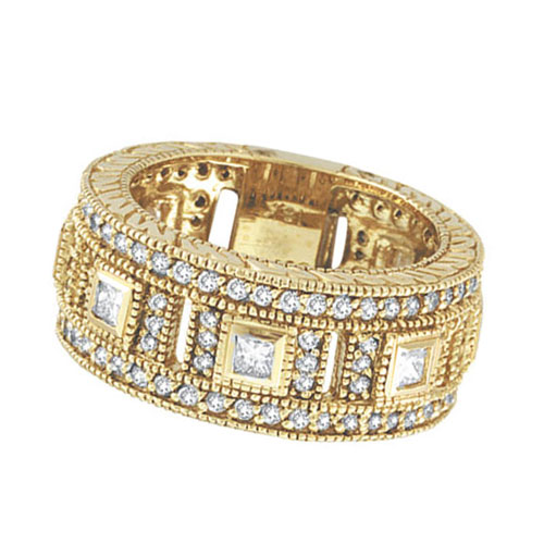 18K Yellow Gold 1.68ct Diamond Eternity Ring Band SI1-SI2 G-H. Price: $3660.48