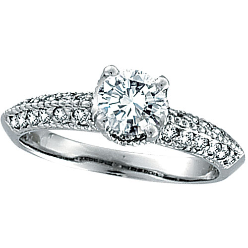 18K White Gold 1.01ct Diamond Antique Style Engagement Ring SI2 H-I. Price: $5821.44