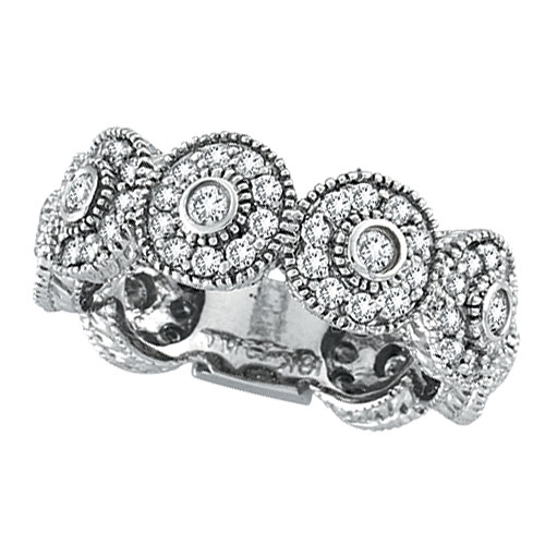 14K White Gold 1.26ct Diamond Eternity Ring Band White Gold. Price: $2448.00