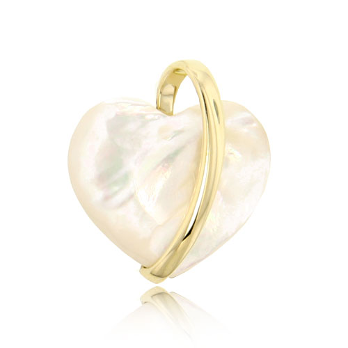 14K Heart Design Mother of Pearl Pendant. Price: $153.96