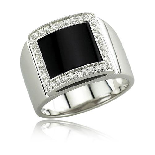 Onyx And Diamond Ring. Price: $2072.00