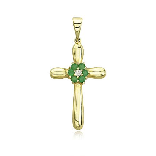 Emerald Diamond Pendant. Price: $244.00