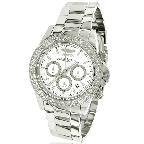 Invicta Speedway Chronograph White Dial Diamond Watch. Price: $1552.00