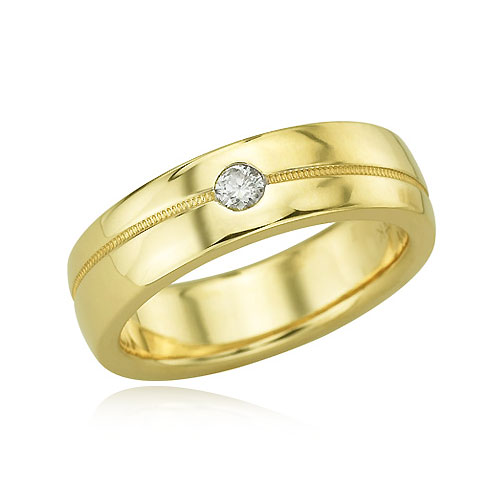 14K Men's Single Diamond Band. Price: $1382.00