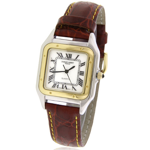Men's Charles Hubert Two-Tone Leather Band Watch. Price: $106.50