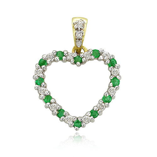 Emerald And Diamond Pendant. Price: $514.00