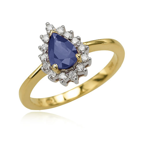 Pear Sapphire And Diamond Ring. Price: $718.00