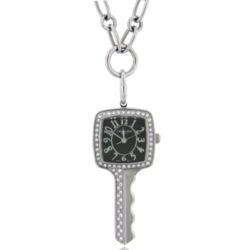 Charles Hubert Swarovski Crystal Black Dial Key Pendant Watch. Price: $116.04