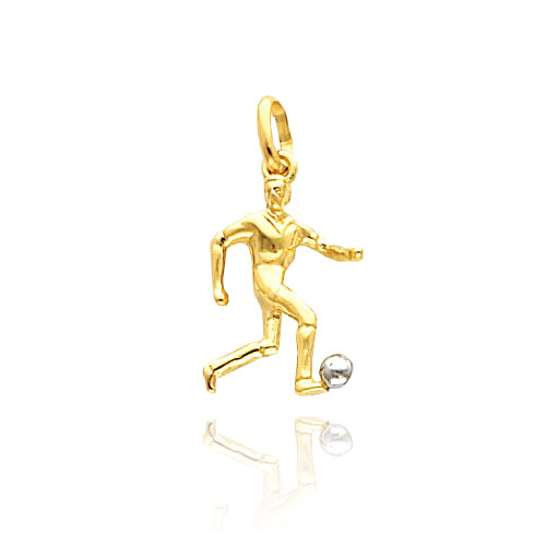 14K Yellow Gold & Rhodium Soccer Player Charm. Price: $135.60