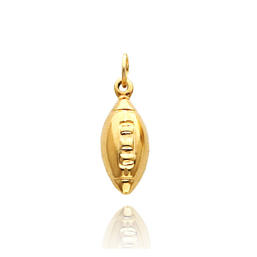 14K Yellow Gold Polished Football Charm. Price: $46.78