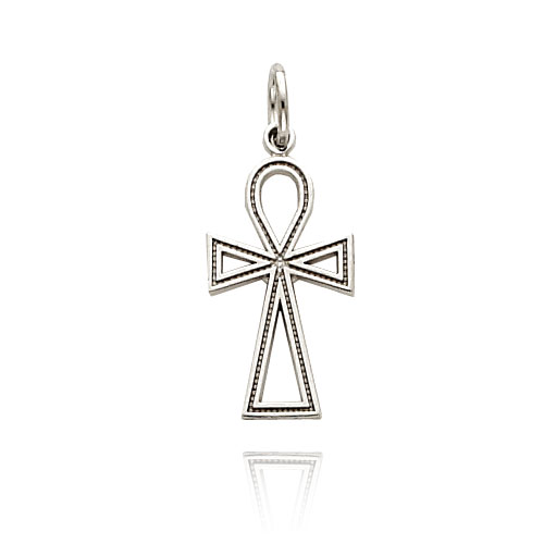 14K White Gold Ankh Cross Charm. Price: $73.20