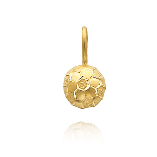 14K Yellow Gold Diamond Cut Soccer Ball Charm. Price: $45.88