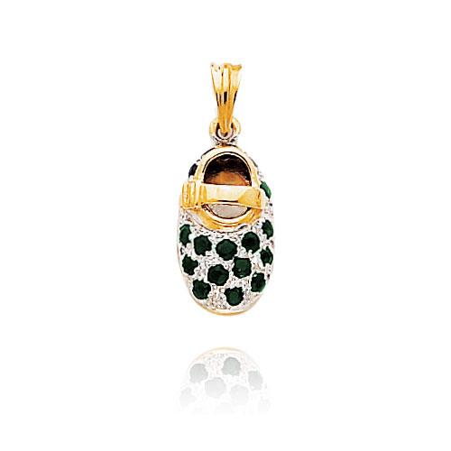 14K Yellow Gold & Rhodium September/Sapphire Baby Shoe Charm. Price: $301.98