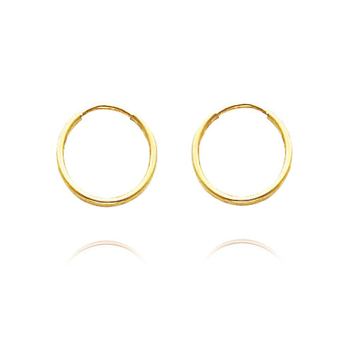 14K Yellow Gold 1x10mm Endless Hoops. Price: $30.66