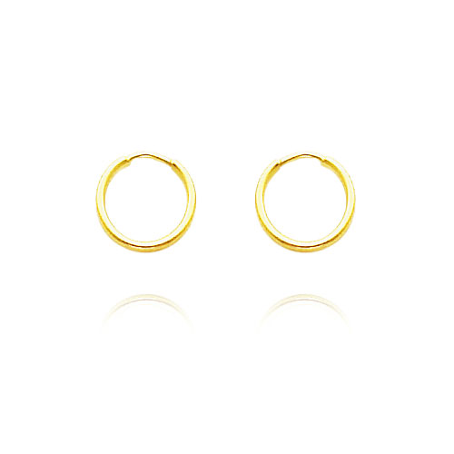 14K Yellow Gold 1x8mm Endless Hoops. Price: $26.90