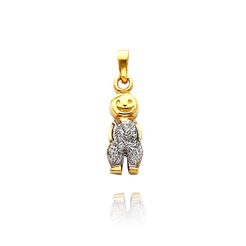 14K Yellow Gold & Rhodium Laser-Cut Boy Charm. Price: $104.66