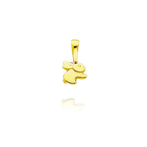 14K Yellow Gold 3D Tiny Rabbit Charm. Price: $43.24