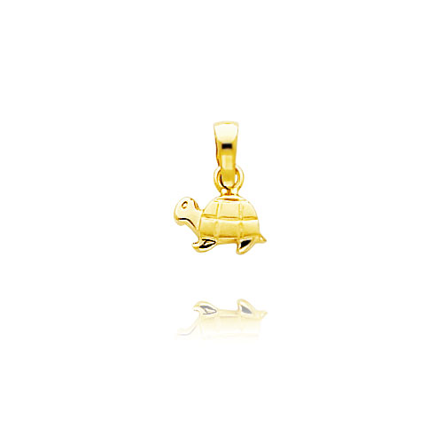 14K Yellow Gold Tiny Satin Turtle Charm. Price: $46.12