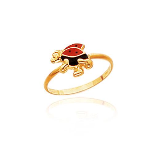 14K Yellow Gold Flying Ladybug Children's Ring. Price: $68.48