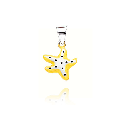 14K White Gold Enameled Starfish Pendant. Price: $109.38