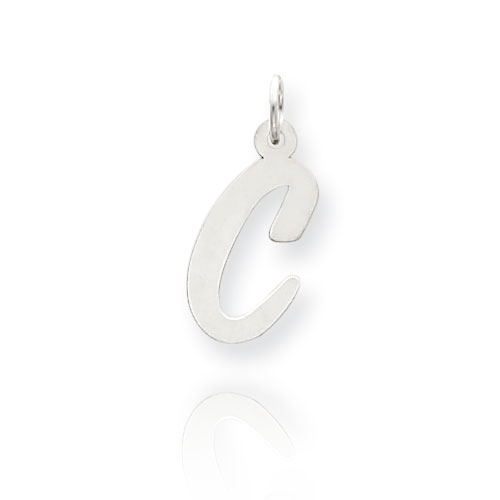 "14K White Gold Large Script Initial ""C"" Charm. Price: $51.62"