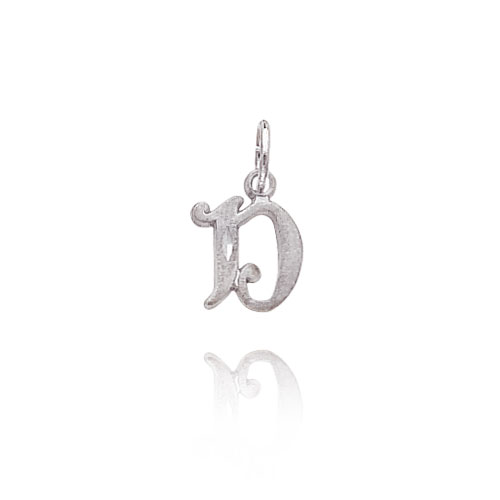 "14K White Gold Satin & Diamond-Cut Initial ""D"" Pendant. Price: $47.62"