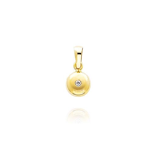 14K Yellow Gold Satin & Polished CZ Charm. Price: $57.84