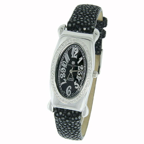 Ladies' Charles Hubert Premium Collection Black Dial & Band Diamond Watch. Price: $830.80