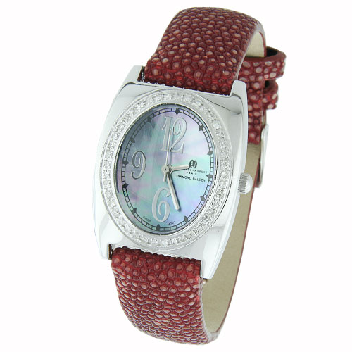 Ladies' Charles Hubert Premium Collection White Mother of Pearl Dial Diamond Watch. Price: $914.34