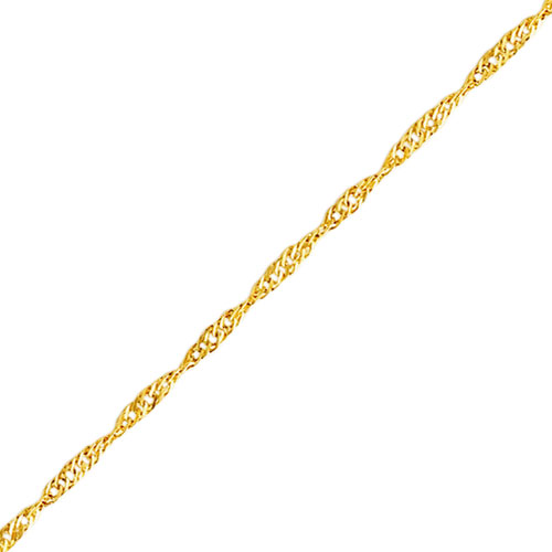 "14K Yellow Gold 2.1mm Singapore Anklet 10"". Price: $83.36"