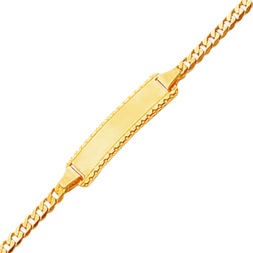 14K Polished Curb Link Baby/Child ID Bracelet. Price: $172.74