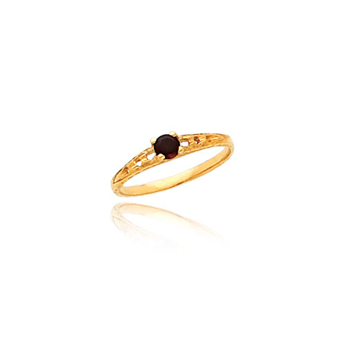 14K Gold 3mm Garnet Birthstone Baby Ring. Price: $84.18