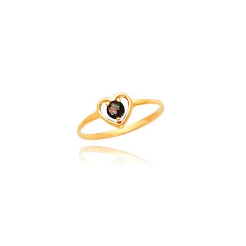 14K Gold 3mm Mystic Topaz Heart Baby Ring. Price: $58.76