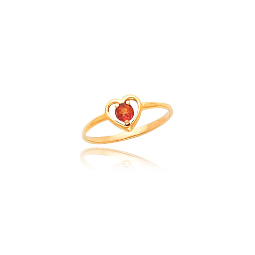 14K Gold 3mm Topaz Heart Baby Ring. Price: $58.76