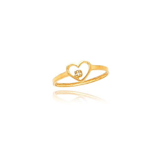 14K Gold CZ Heart Baby Ring. Price: $80.42