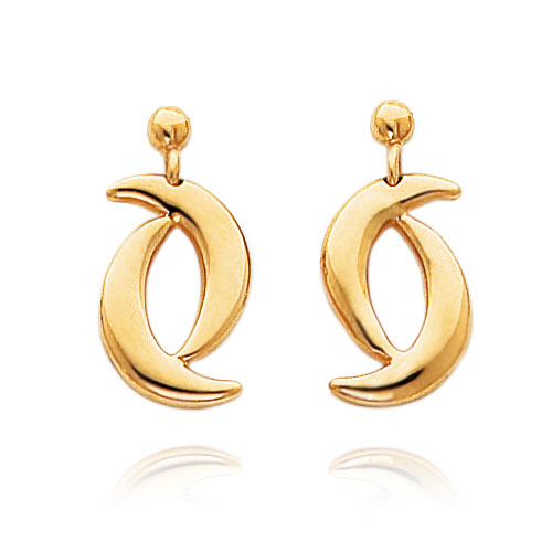 14K Double Moon Shape Dangle Earrings. Price: $278.36