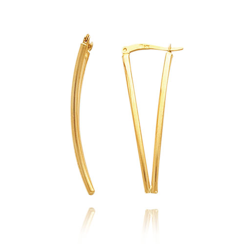 14K Double Tube V-Style Earrings. Price: $234.82