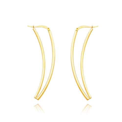 14K Double Tube Fancy V-Style Earrings. Price: $309.80