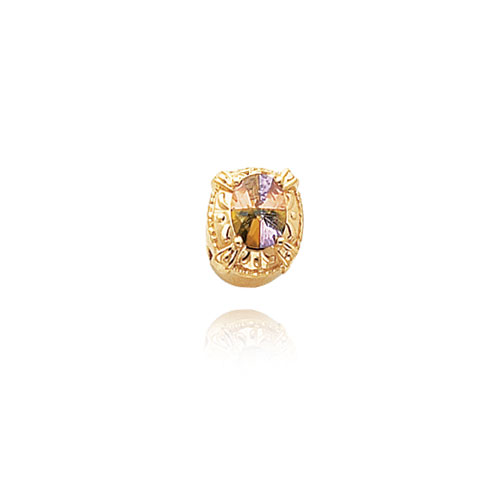 14K Gold Multicolored CZ Bracelet Slide. Price: $350.30