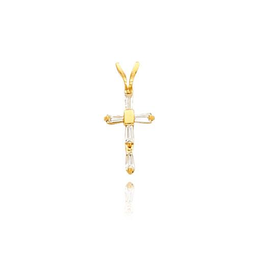 14K Gold CZ Cross Necklace. Price: $87.88