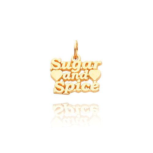 14K Gold  Sugar And Spice Necklace. Price: $125.12