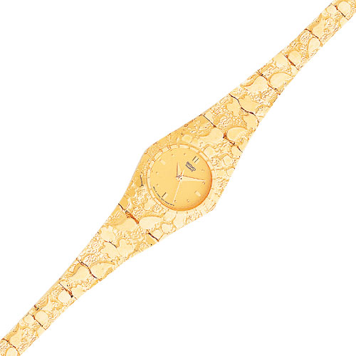 10K Gold Yellow Dial Circular Face Nugget Watch. Price: $1300.64