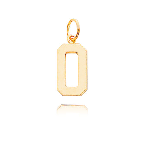 14K Gold Medium Polished Number 0 Charm. Price: $90.60