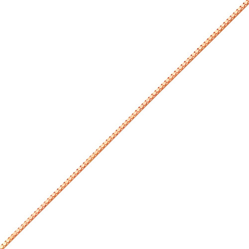 14K  Rose Gold 1mm Box Link Chain Bracelet. Price: $215.72