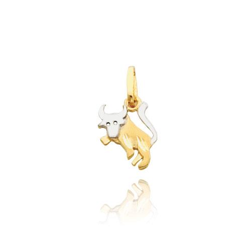 14K Gold & Rhodium Taurus Zodiac Charm. Price: $52.34