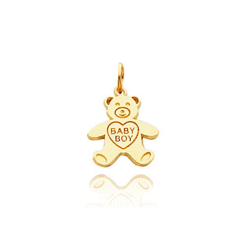 14K Gold Baby Boy Teddy Bear Necklace. Price: $133.96