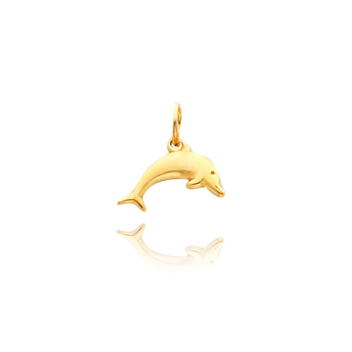 14K Gold Dolphin Necklace. Price: $98.56