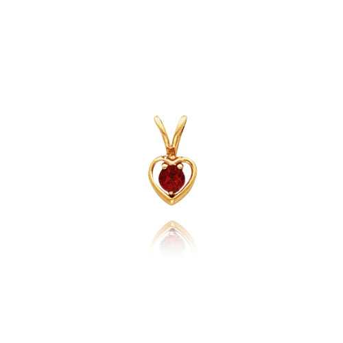 14K Gold 3mm Aztec Topaz Heart Necklace. Price: $81.60