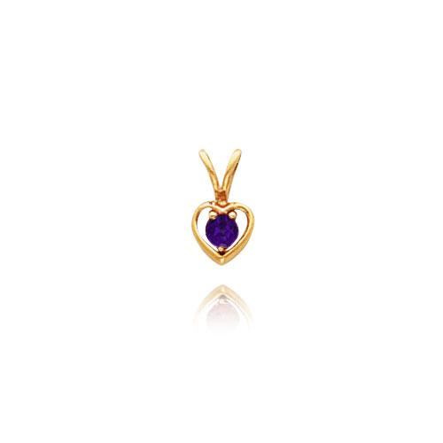 14K Gold 3mm Mystic Topaz Heart Necklace. Price: $81.60