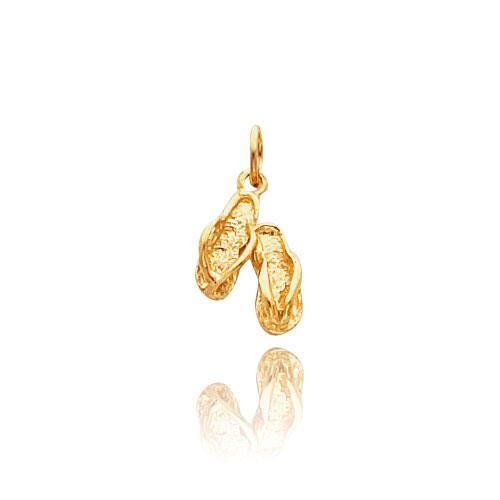 14K Gold Flip Flop Necklace. Price: $121.56